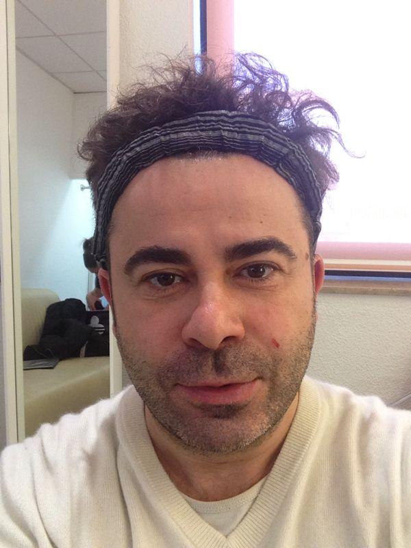 La cara de Jorge Javier sin maquillar.