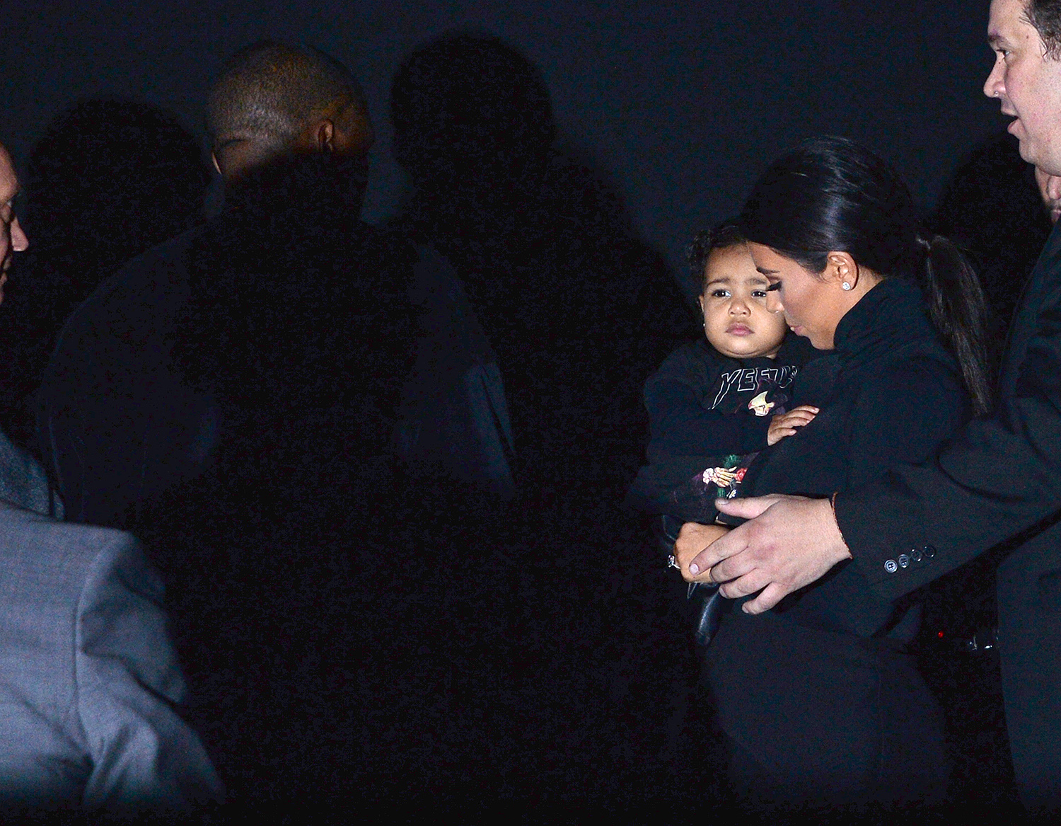 North West pasa del 'front row'