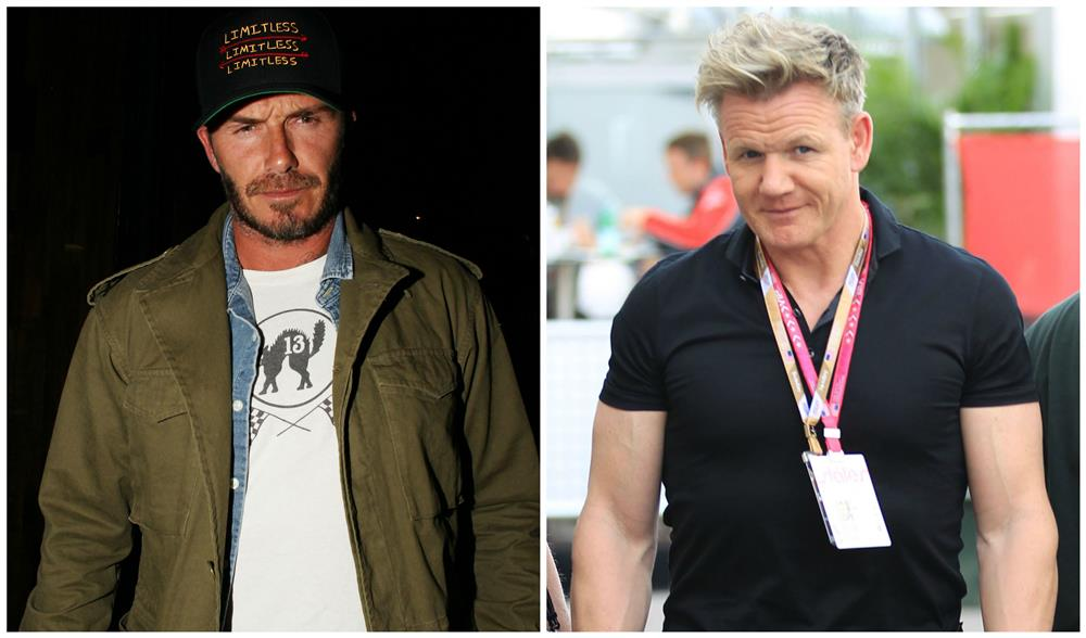 79. David Beckham y Gordon Ramsey