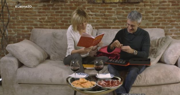 Susana Griso y Sergio Dalma con el Estuche