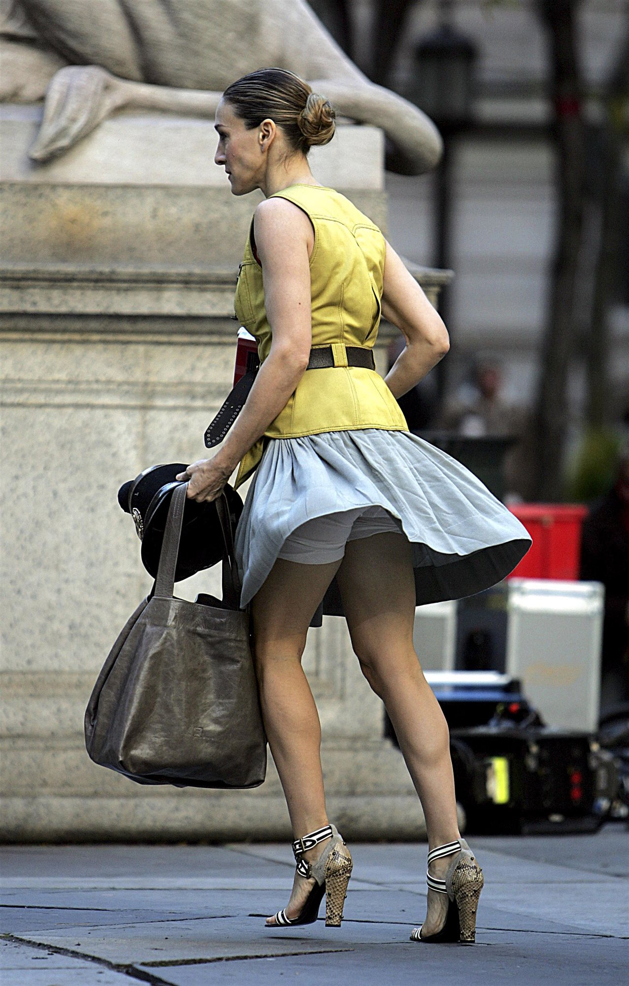Девушкам ветер поднял юбку — pic 9