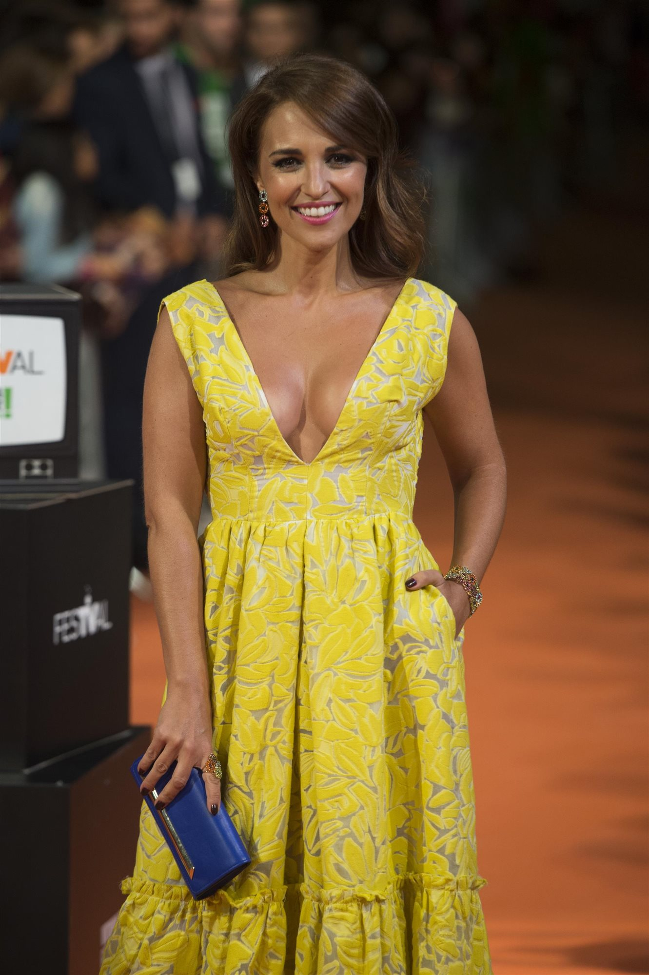 Paula echevarria vestido largo amarillo