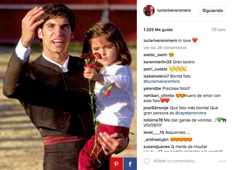 El detalle m s tierno de luc a rivera romero con su padre for Blanca romero y sus hijos
