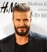 David Beckham en Madrid y con barba 'hipster'