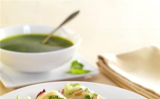 Canelones de espinacas y reques n con salsa de tomate - Canelones en microondas ...
