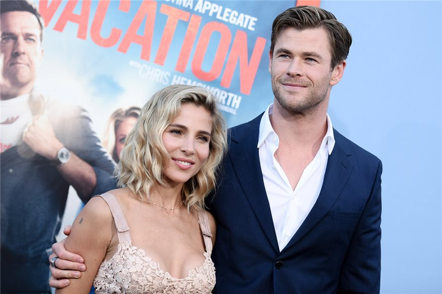 Elsa Pataky y Chris Hemsworth en la presentación de 'Vacation'
