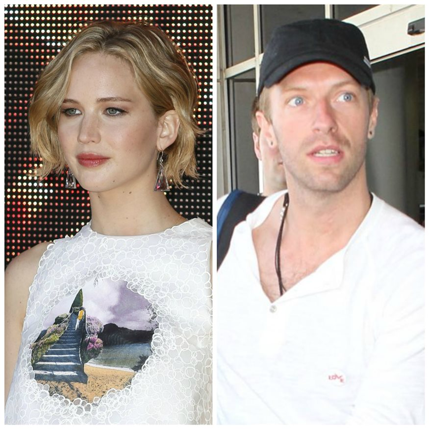 Jennifer lawrence y chris martin