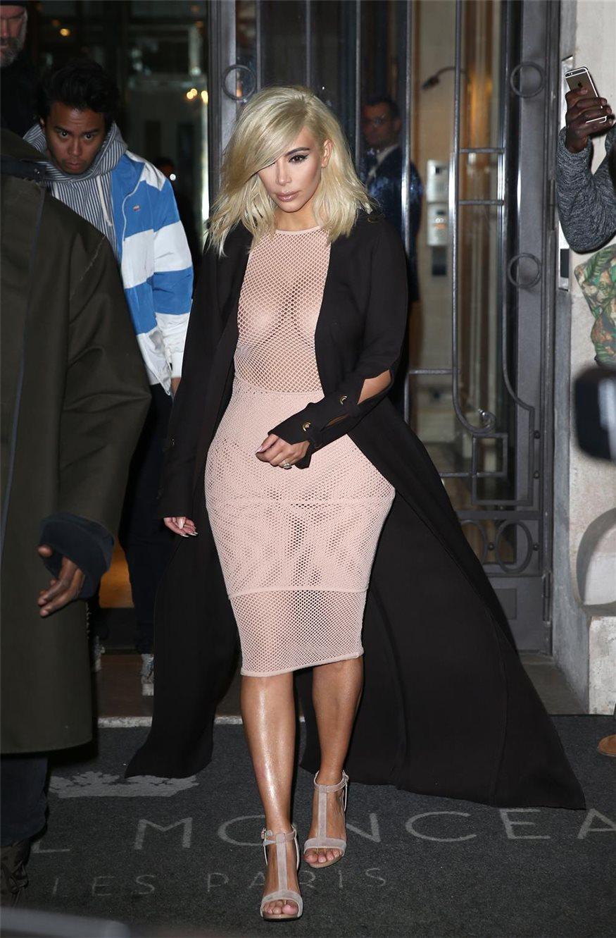 Kim Kardashian Estrena Look De Rubio Platino Y Vestido