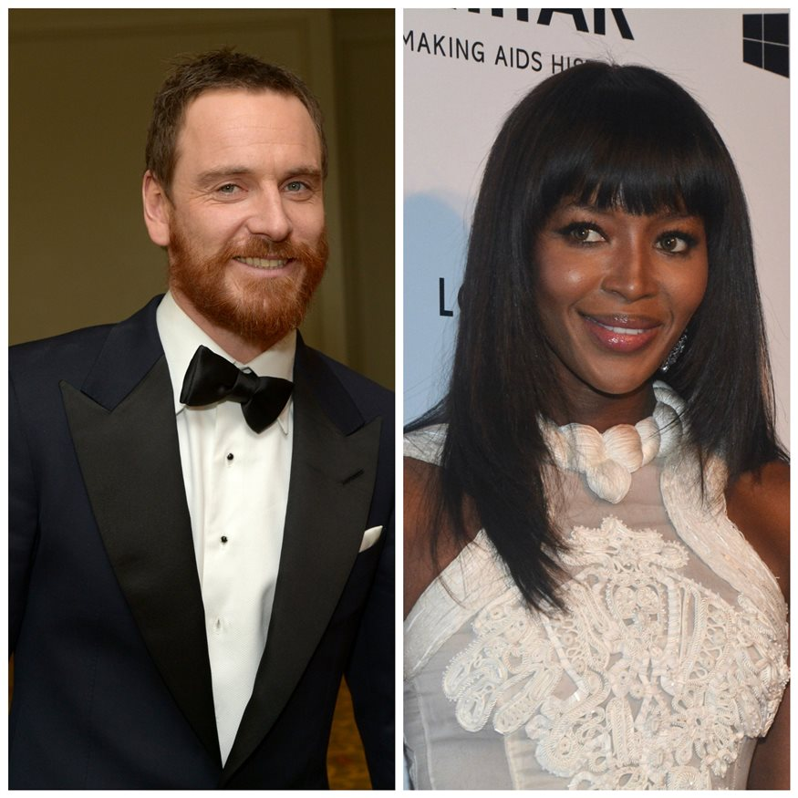 Naomi Campbell y Michael Fassbender