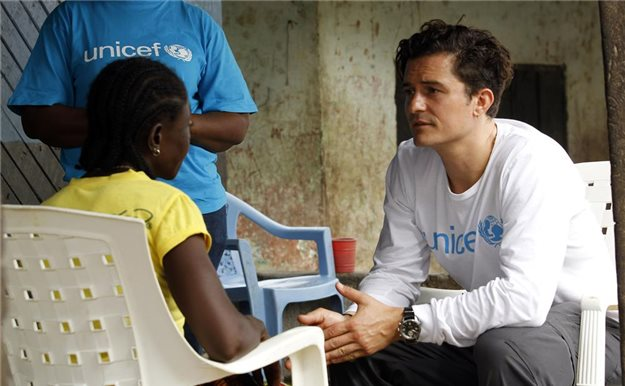 Orlando Bloom, embajador de Unicef en Liberia