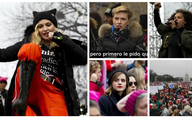Madonna lidera la Women's March contra Trump en Washington DC