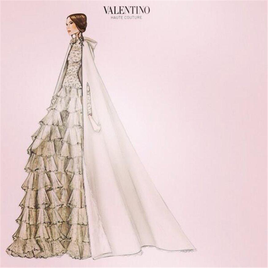 Así era el vestido de novia de Tatiana