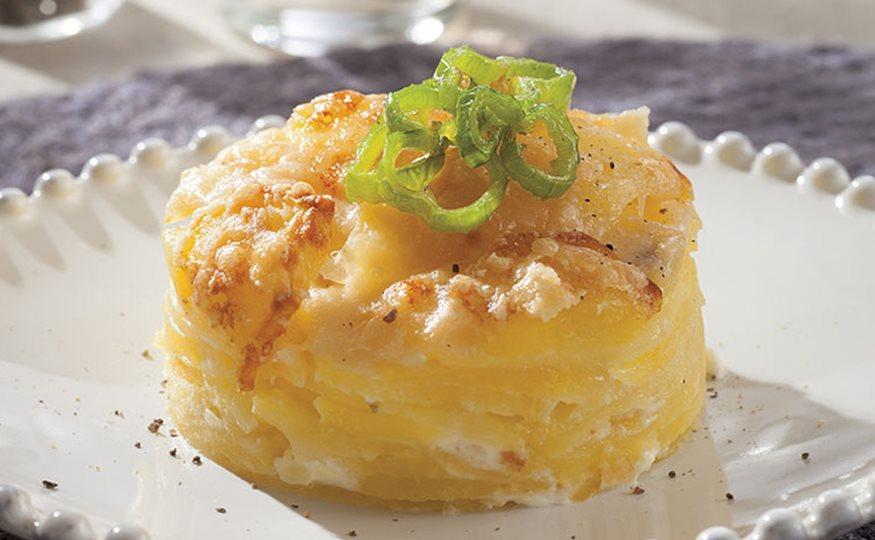 Gratinado de patatas con pimientos - Gratinado de patata ...