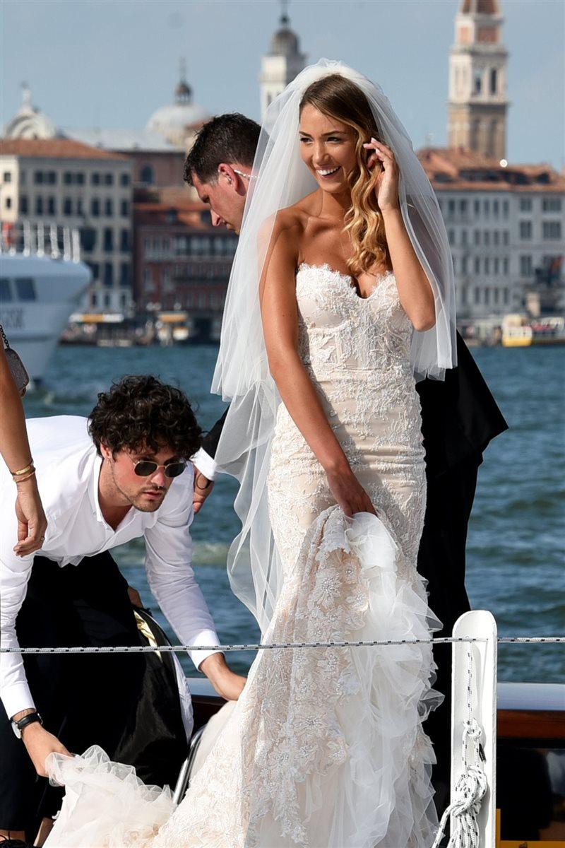 La novia estaba extremadamente feliz