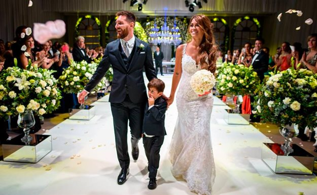 Leo Messi comparte las fotos privadas de la boda