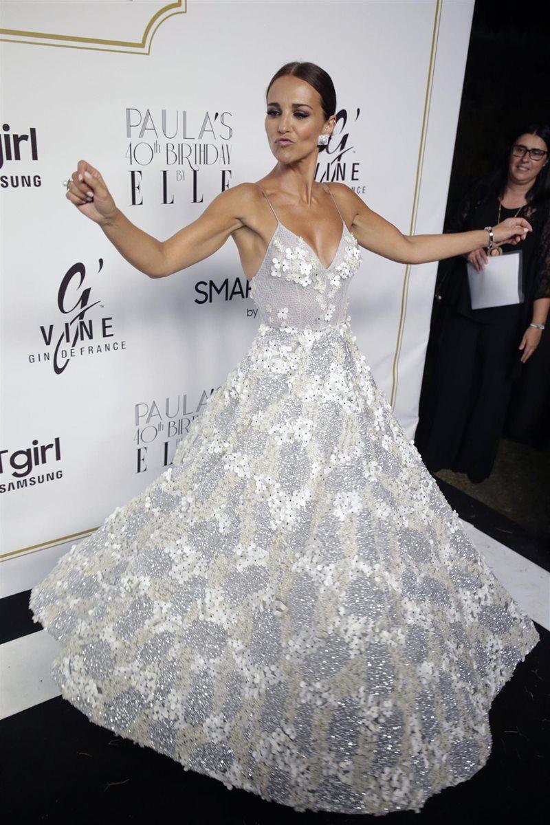 Paula echevarria con vestidos de fiesta
