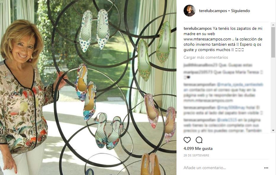 María Teresa Campos crea su propia firma de zapatos 1082b7e77b40