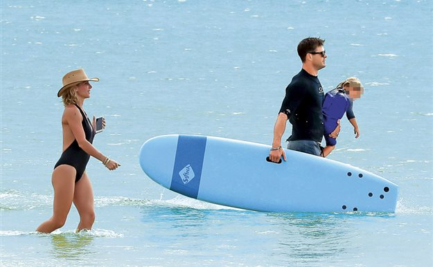 Elsa Pataky y Chris Hemsworth una pareja 10 en las playas australianas