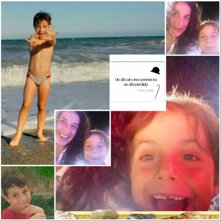 El collage de los padres de Gabriel en el día de su declaración
