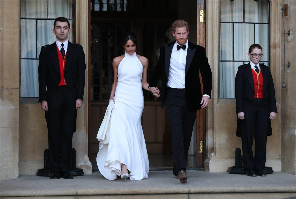 Meghan Markle deslumbra con su segundo vestido de novia