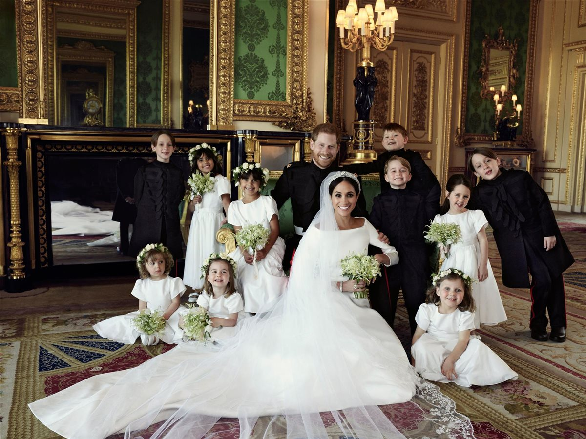 meghan markle principe harry. Pajes y damas de honor