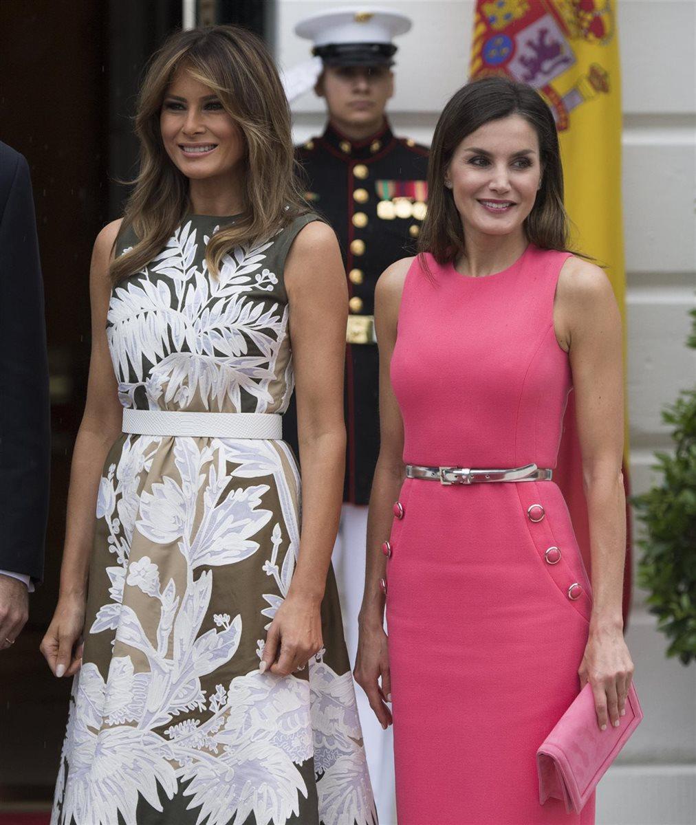 Doña Letizia y Melania Trump: duelo de estilos en la Casa Blanca