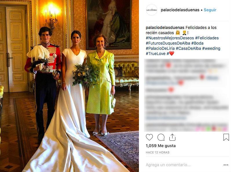 Resultado de imagen de reina sofia, boda duques de huescar