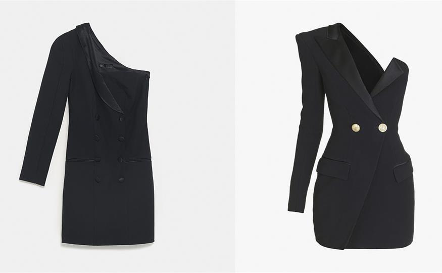 Himmel Replik Umgebung  Zara se inspira en la firma de lujo Balmain para crear este vestido