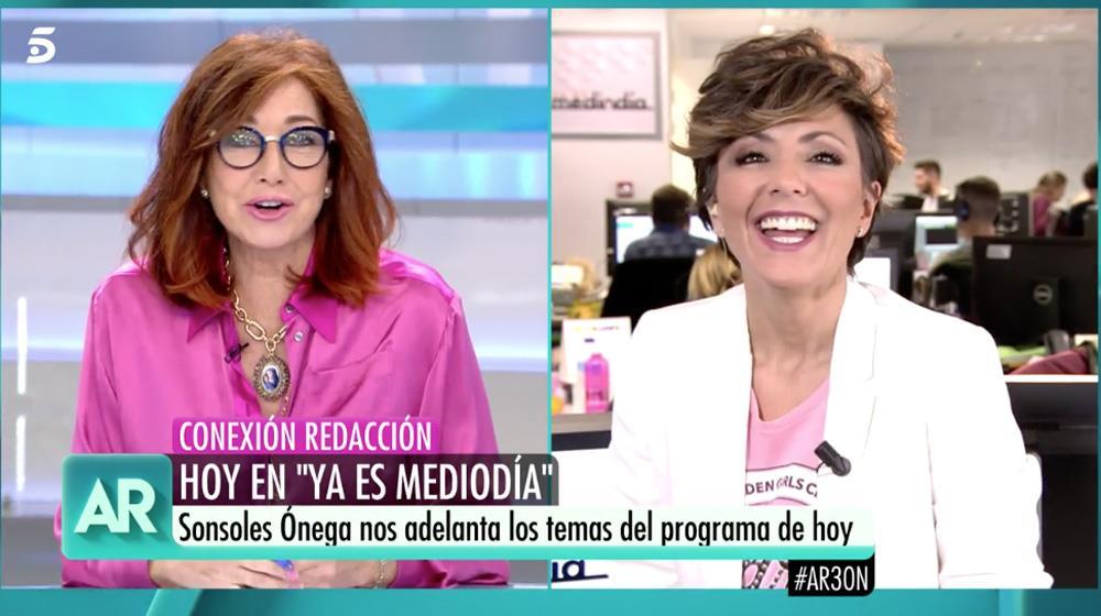 57400cdb0 La sorpresa de Ana Rosa a Sonsoles Ónega
