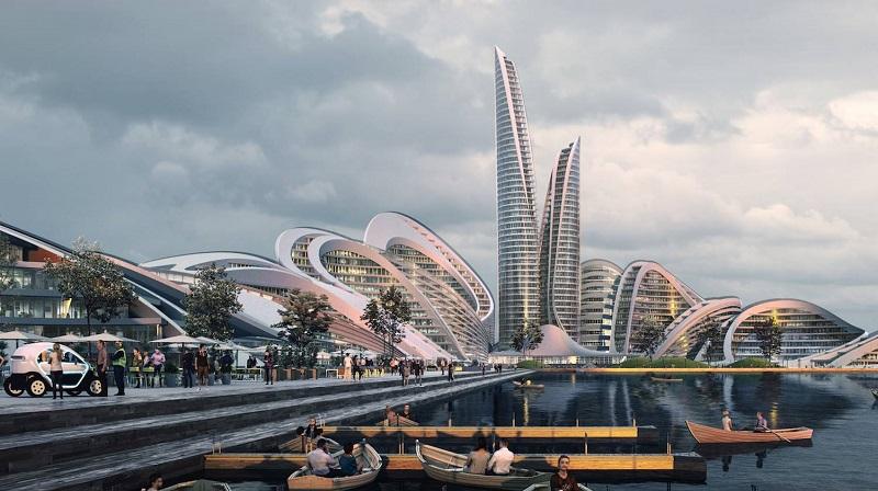 Una ciudad inteligente diseñada por Zaha Hadid