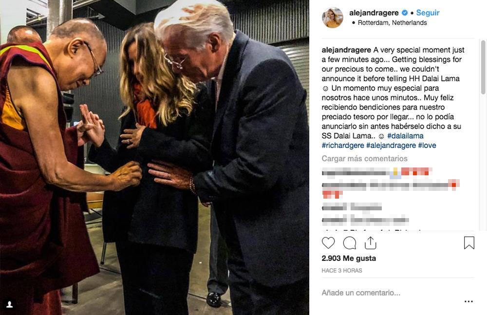 Richard Gere y Alejandra Silva dan la bienvenida a su primer hijo