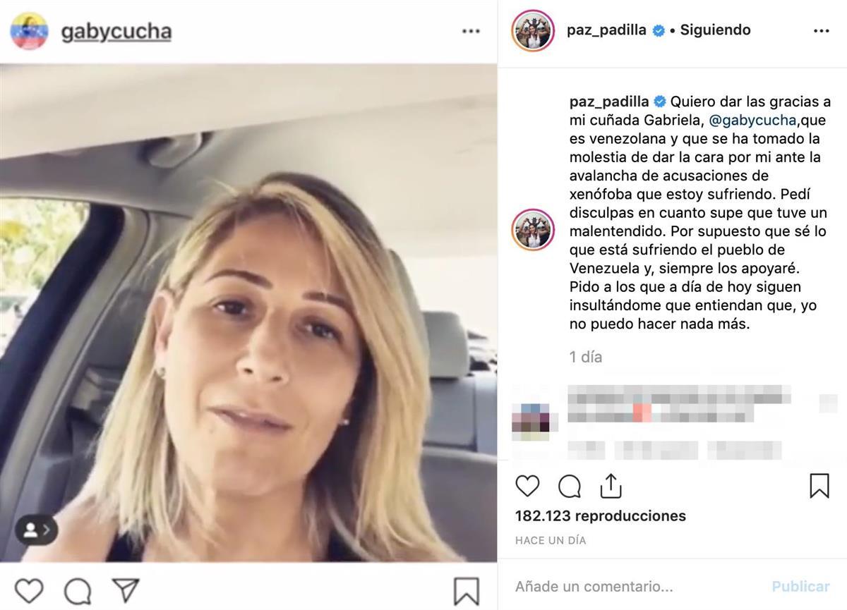 paz padilla cunada. Recurre a su cuñada venezolana para acabar con la polémica