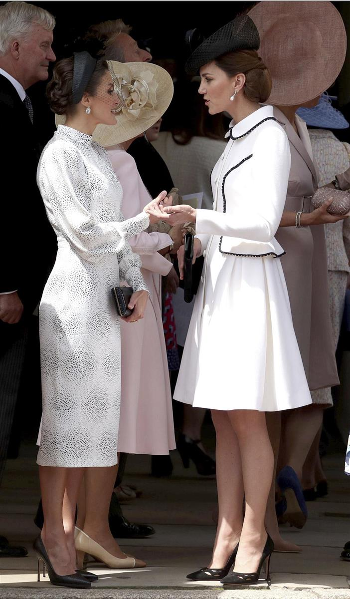 Kate Middleton y la reina Letizia