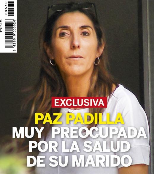 Paz Padilla, muy preocupada por la salud de su marido