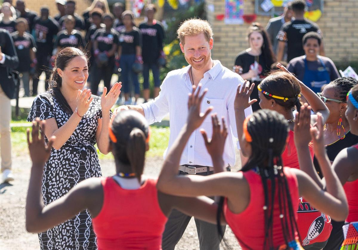 Meghan y Harry África