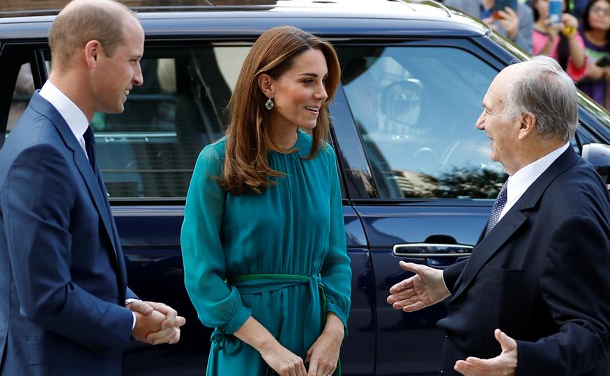 Kate y Guillermo con el Aga Khan