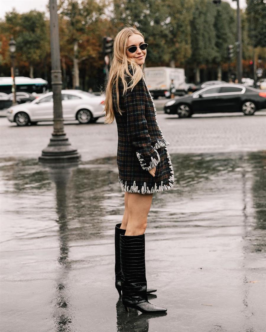 8 Vestidos Negros Que Combinar A Diario Con Botas Altas Este