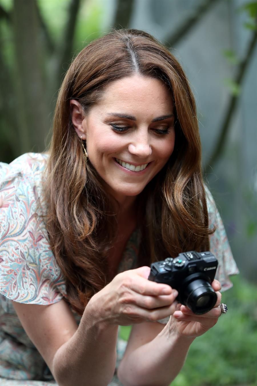 Kate Middleton con la cámara de fotos