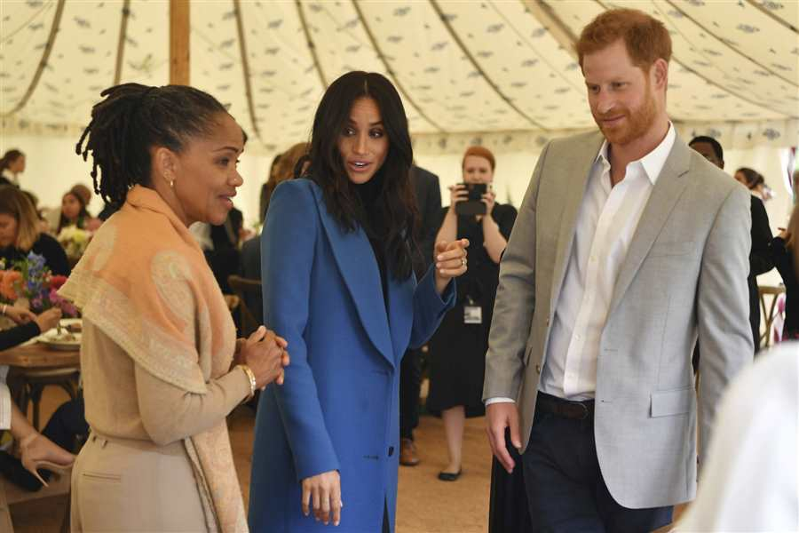Meghan, Harry y Doria