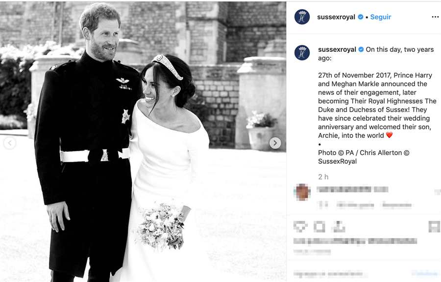 Instagram Harry y Meghan