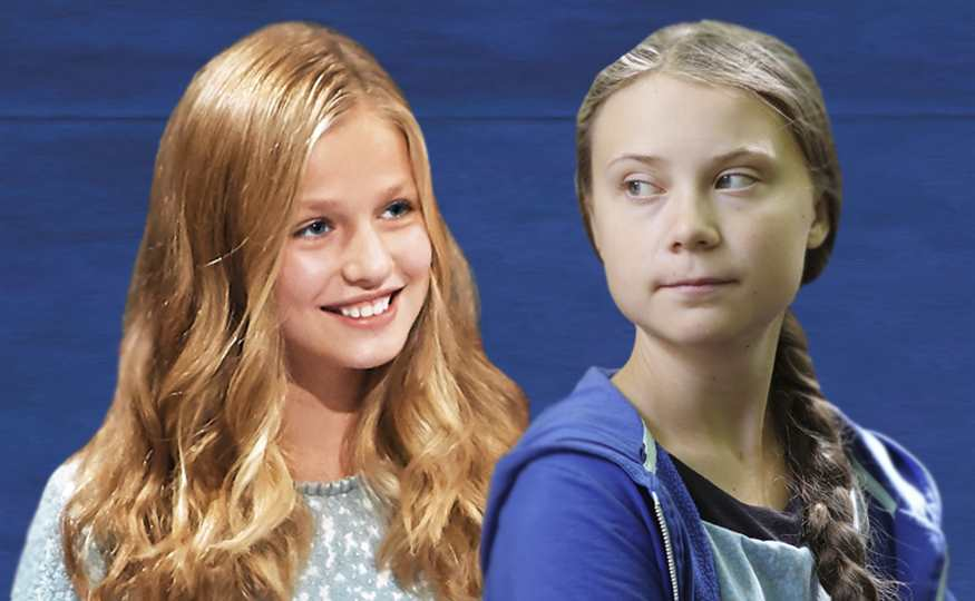 collage princesa Leonor y Greta Thunberg