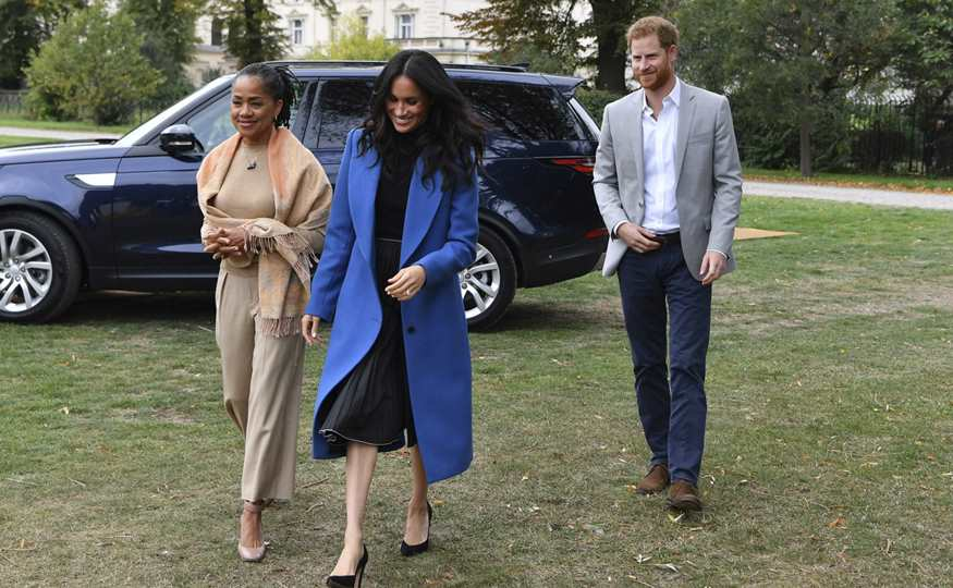 Harry, Meghan y Doria
