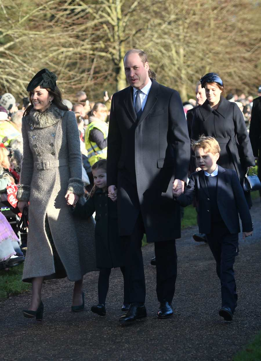 Kate, Guillermo, George, Charlotte