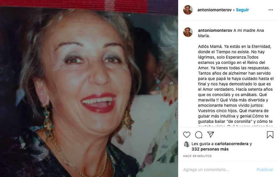 Ana María Vázquez, madre de Antonio Montero