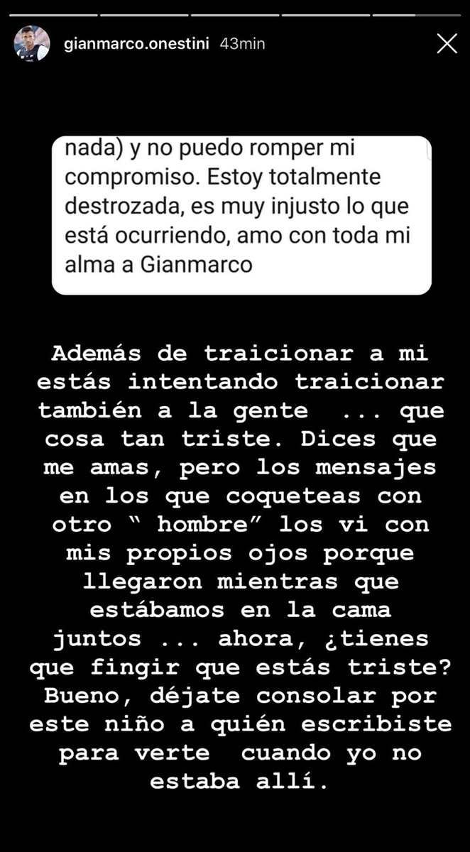 Gianmarco responde (y de qué manera)