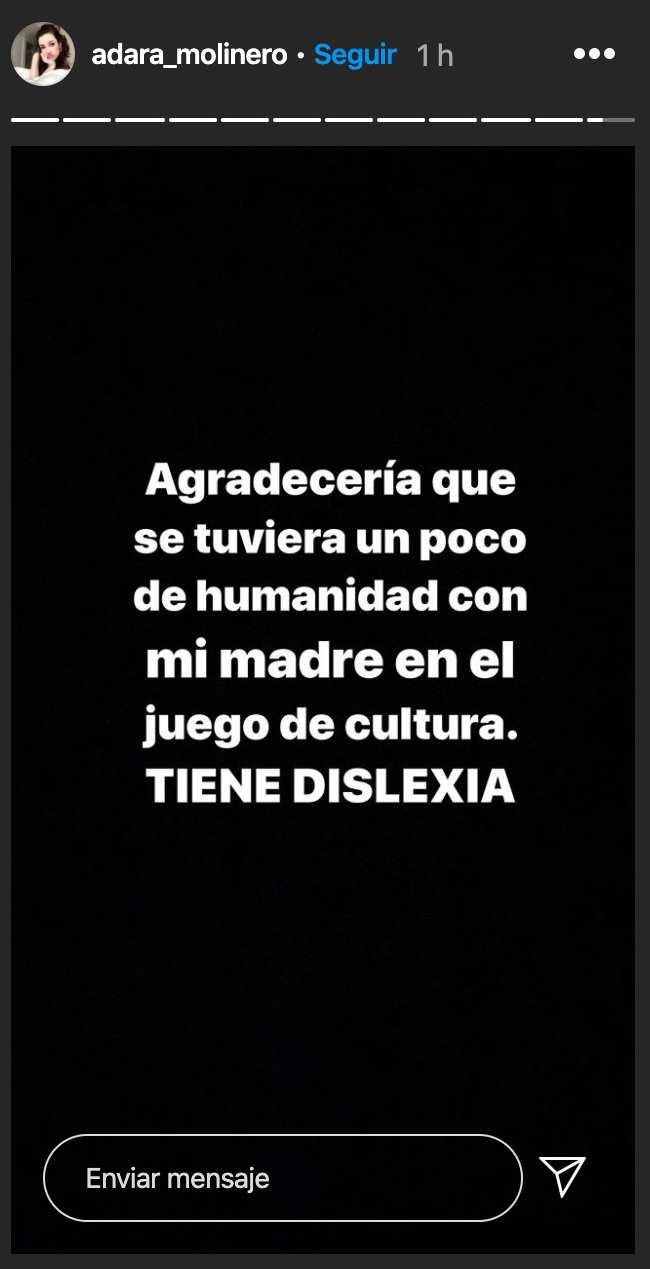 Adara Molinero Instagram dislexia