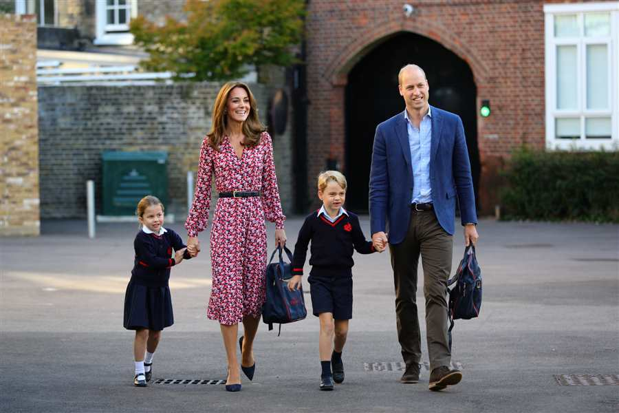 Kate, Guillermo, George y Charlotte