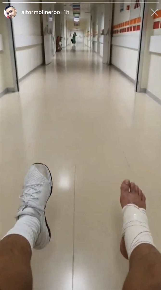 Aitor Molinero hospital
