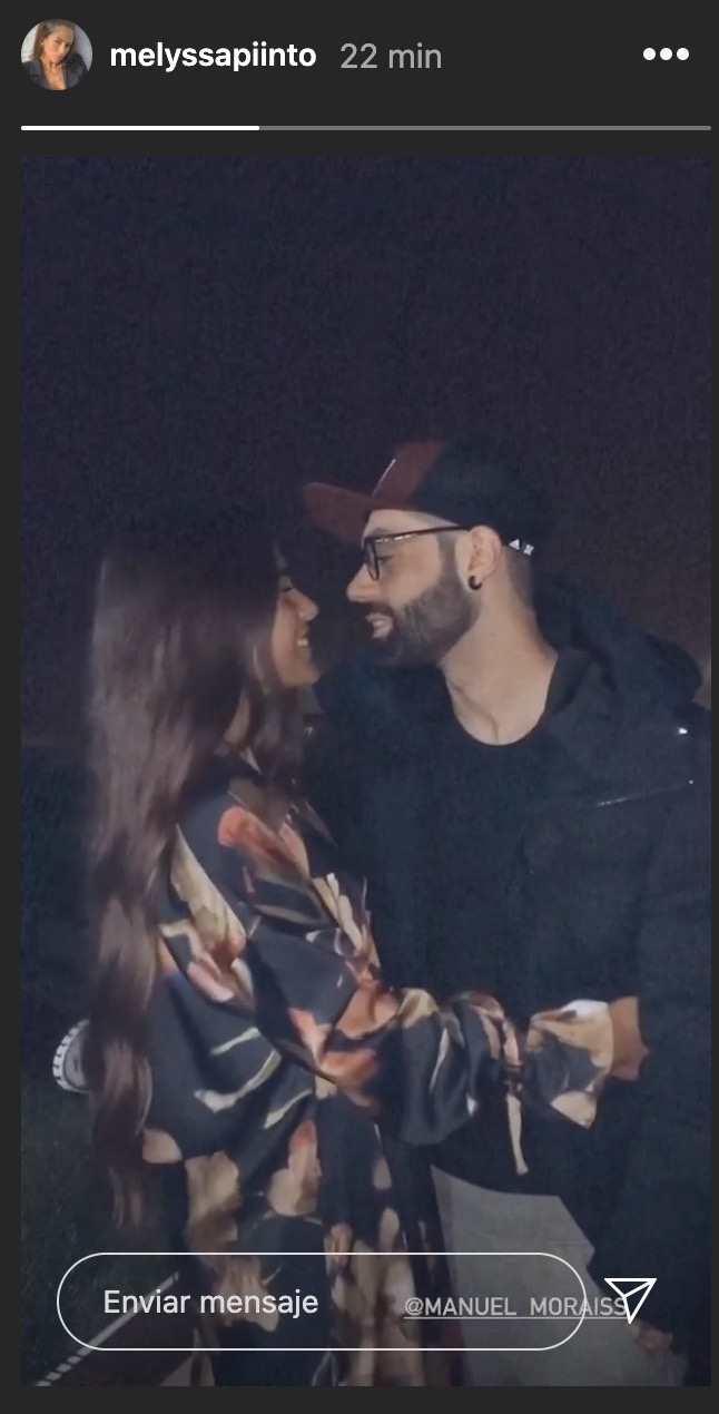 Melyssa Pinto con su novio Manuel