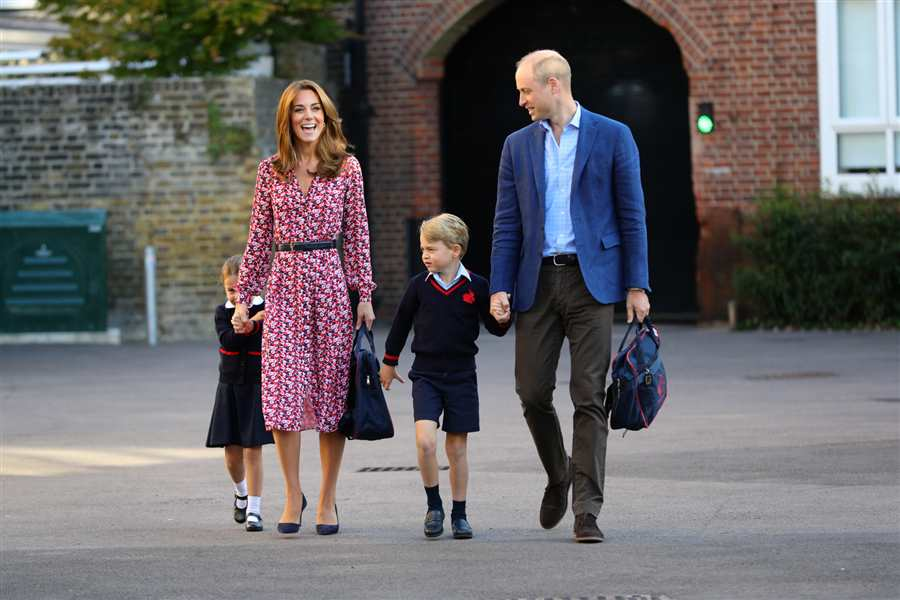 George Charlotte Kate Middleton príncipe Guillermo